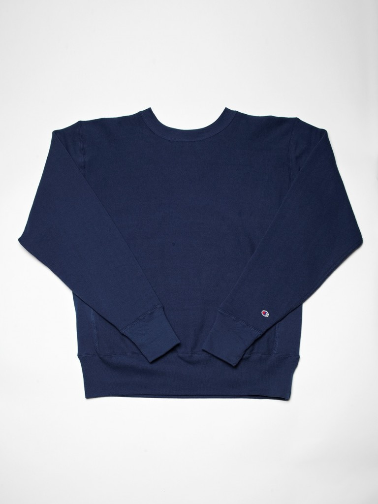 NAVY BLUE REVERSE WEAVE SWEATER