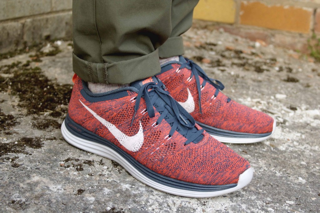Nike Flyknit Lunar1 red navy