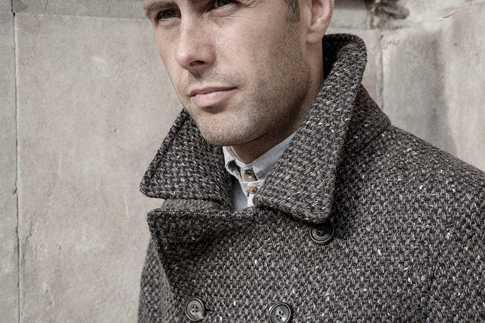tobacco-charcoal-wool-tweed-peacoat-worn-1