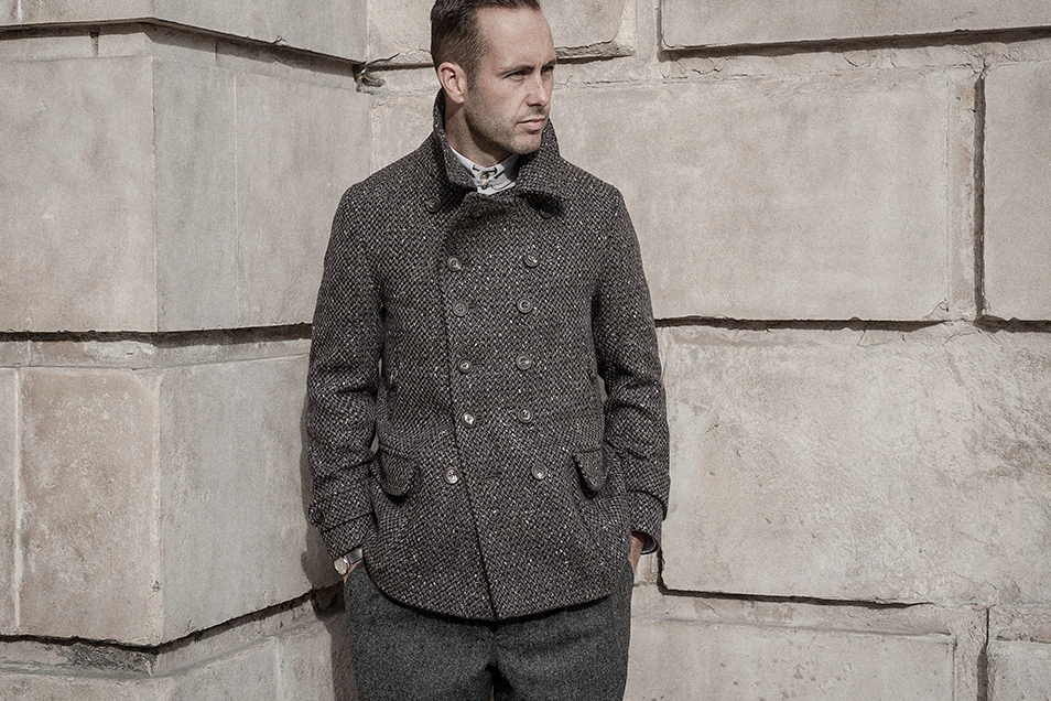 tobacco-charcoal-wool-tweed-peacoat-worn-2