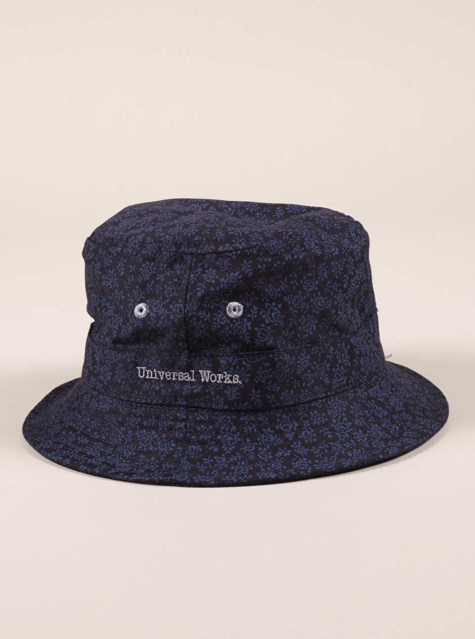 0d044f5d505 floraltwill-10553-buckethat-navy15754. Universal Works ...