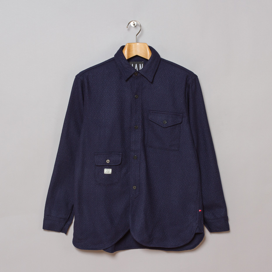 blue overshirt