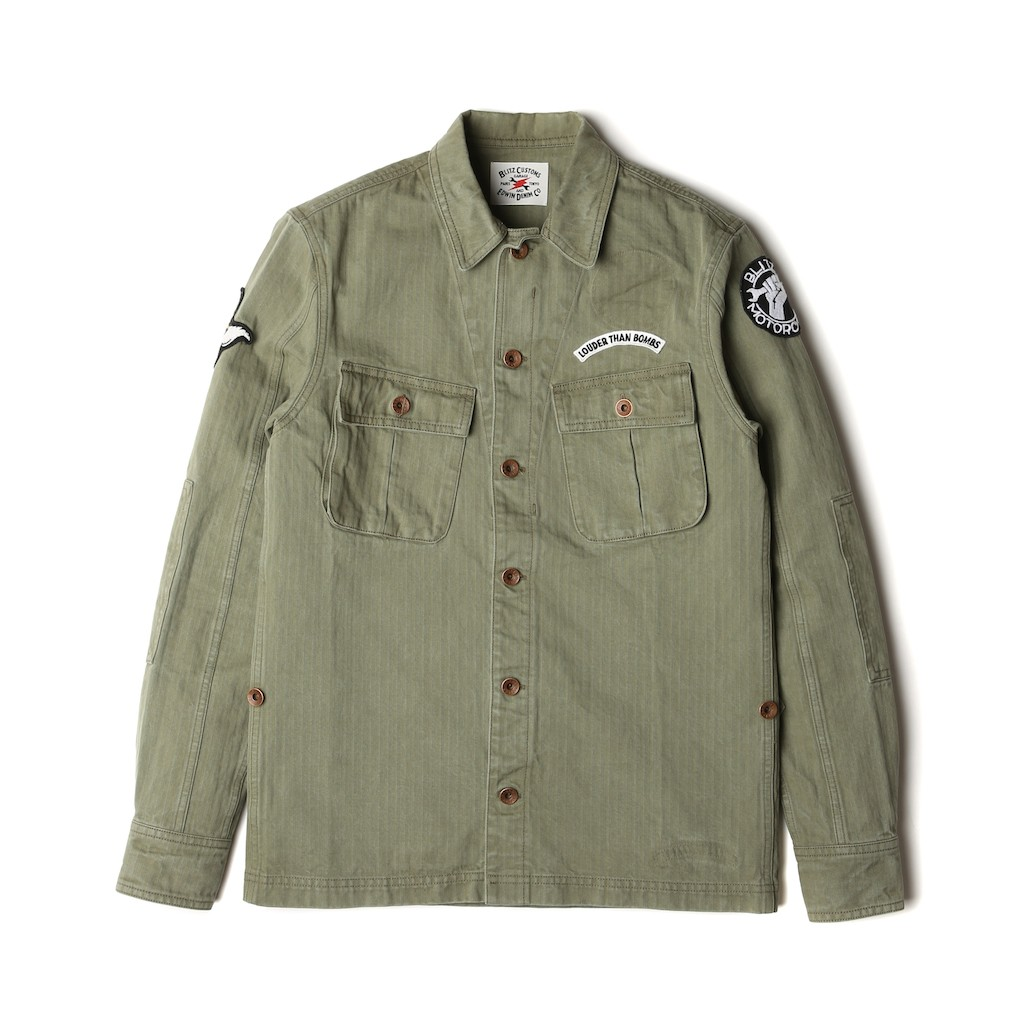 Edwin-Blitz-Field-Shirt-Cotton-Herringbone-Khaki