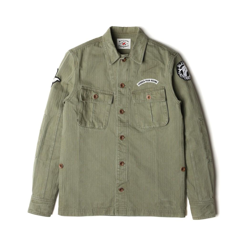Edwin-Blitz-Field-Shirt-Cotton-Herringbone-Khaki