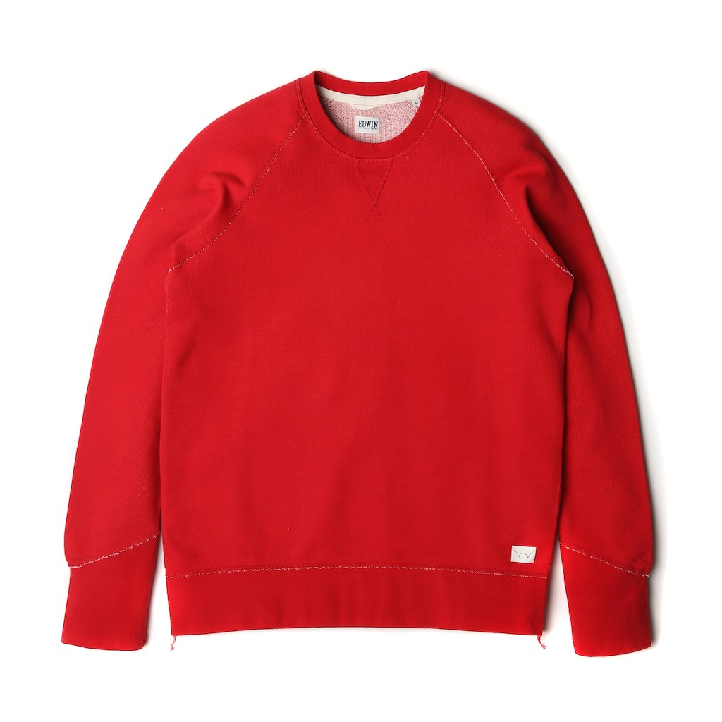 Edwin-Classic-Crew-Sweat-Red