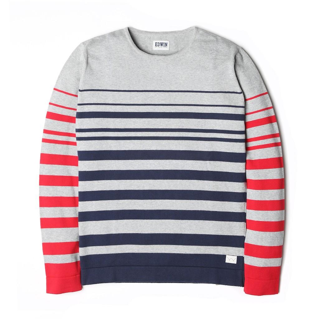 Edwin-Fine-Sweater-Red-Navy-Stripes