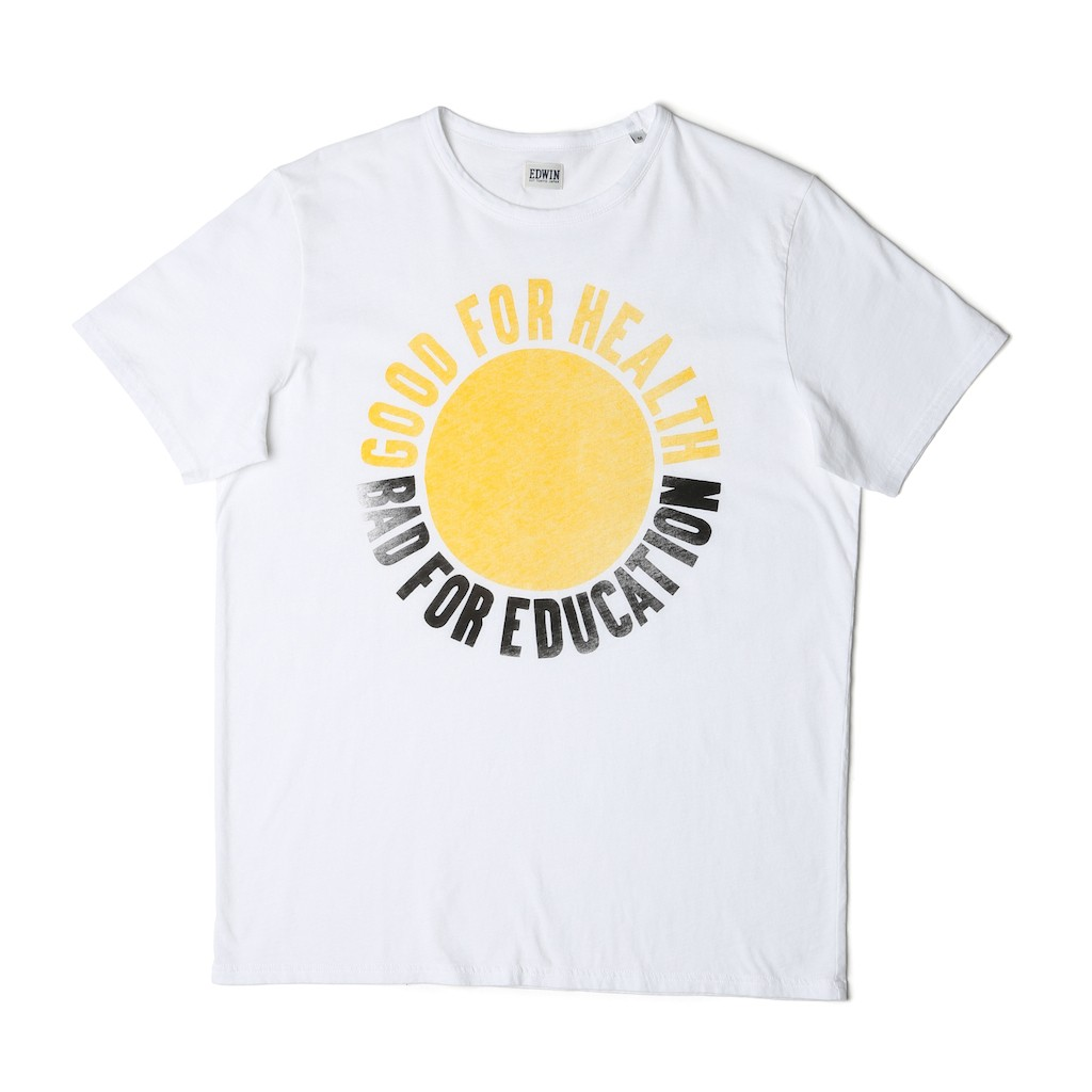 Edwin-Good-Bad-Tee-White