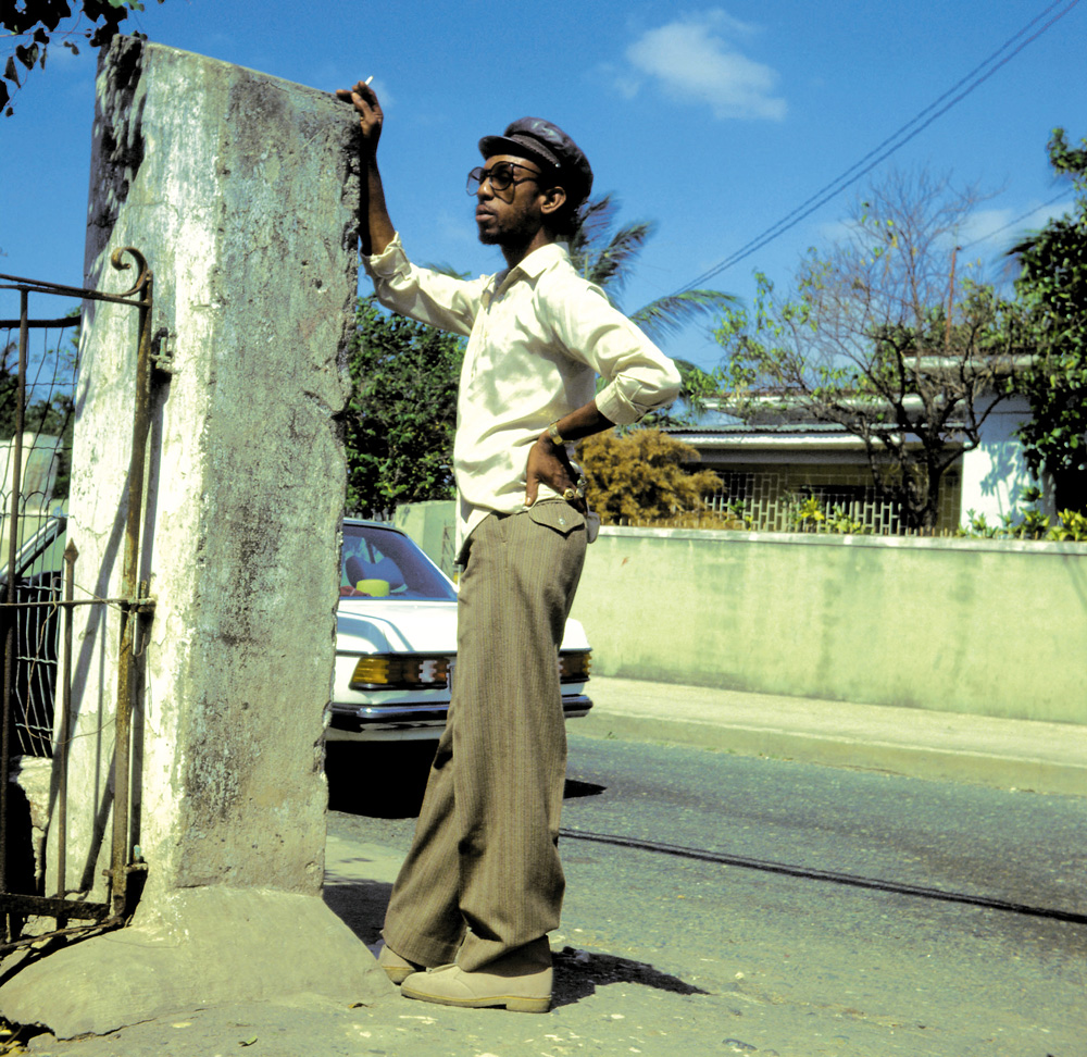 4 Producer Henry Junjo Lawes in desert boots, Kingston, circa 1983, photo © George Williams