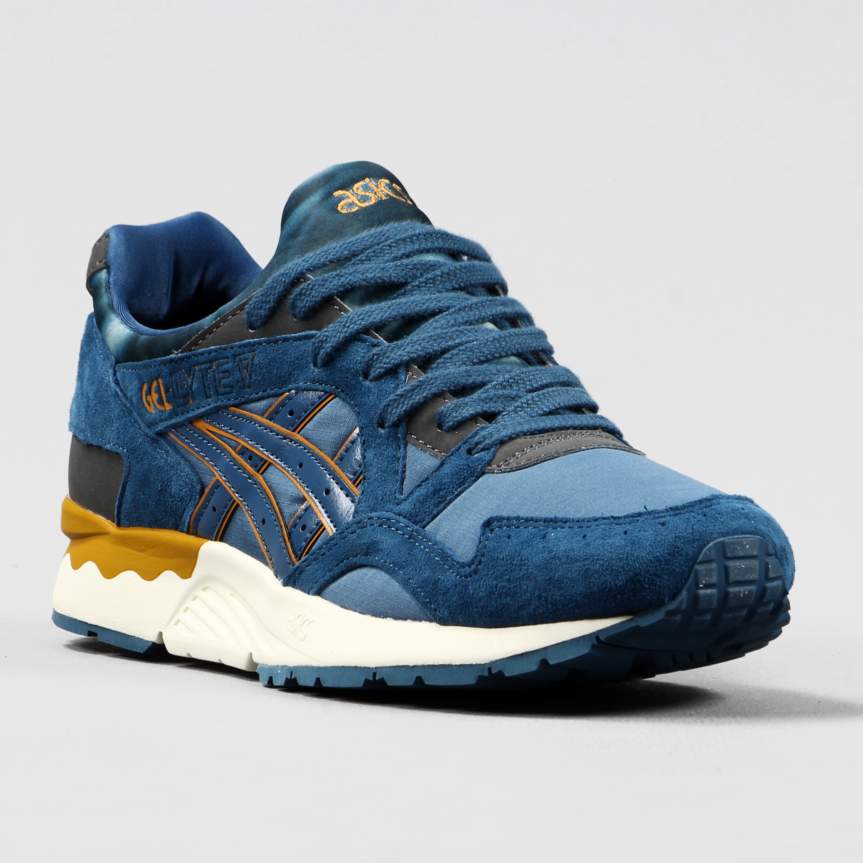 asics gel lyte v legion blue proper magazine. Black Bedroom Furniture Sets. Home Design Ideas