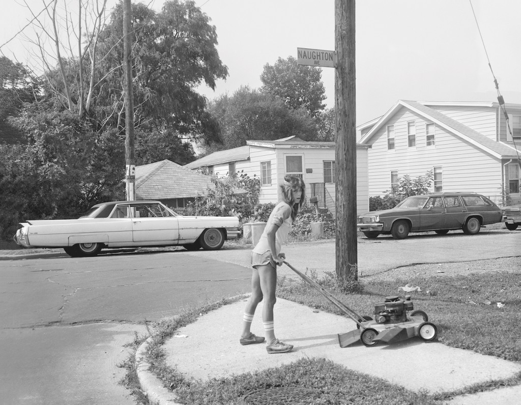 Osinski. Young Woman Cutting Grass