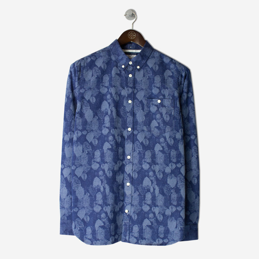NORSE-PROJECTS-Anton-Indigo-Leaf-Shirt-Indigofront