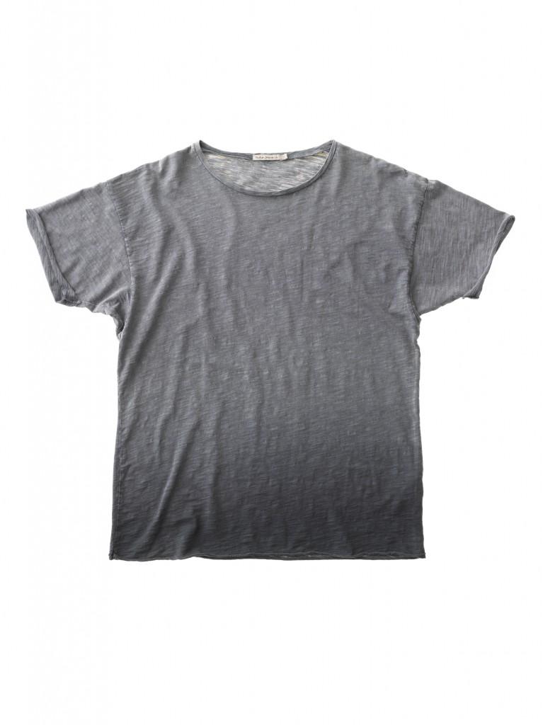 Raw Hem T-shirt Dip Dyed Grey 131419B03