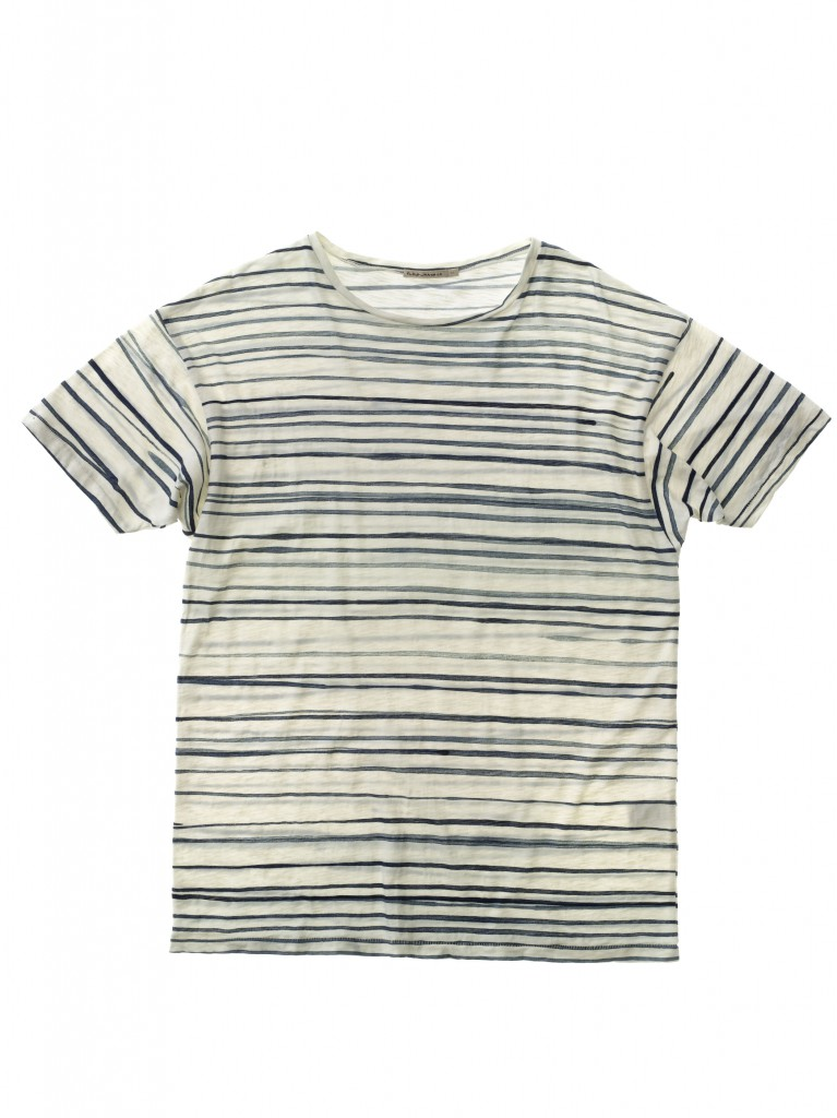Loose Tee Rain Stripes OffwhiteBlue 131445W21