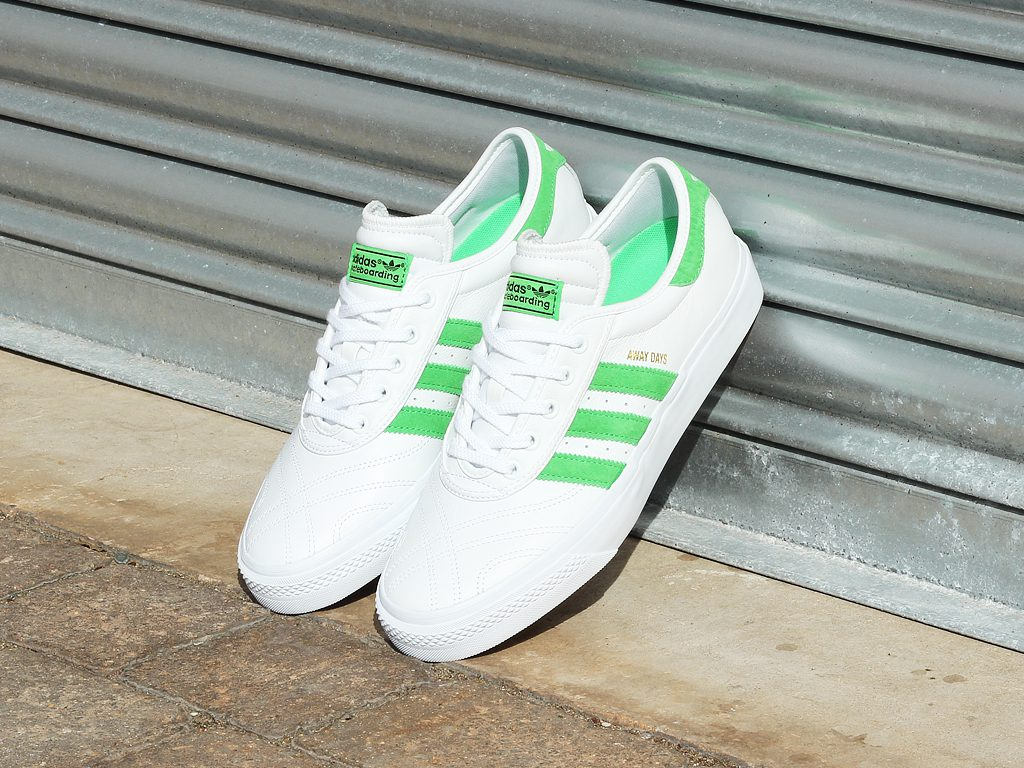 best service 320ff 53db5 workingclassheroes.co.ukadidas-adi-ease-premiere -away-days-shoes-white-green-gum