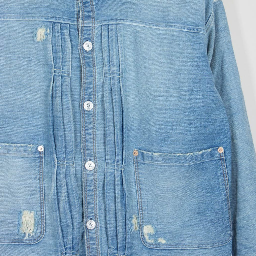 Lvc 1880 Triple Pleat Blouse Denim Jacket Proper Magazine