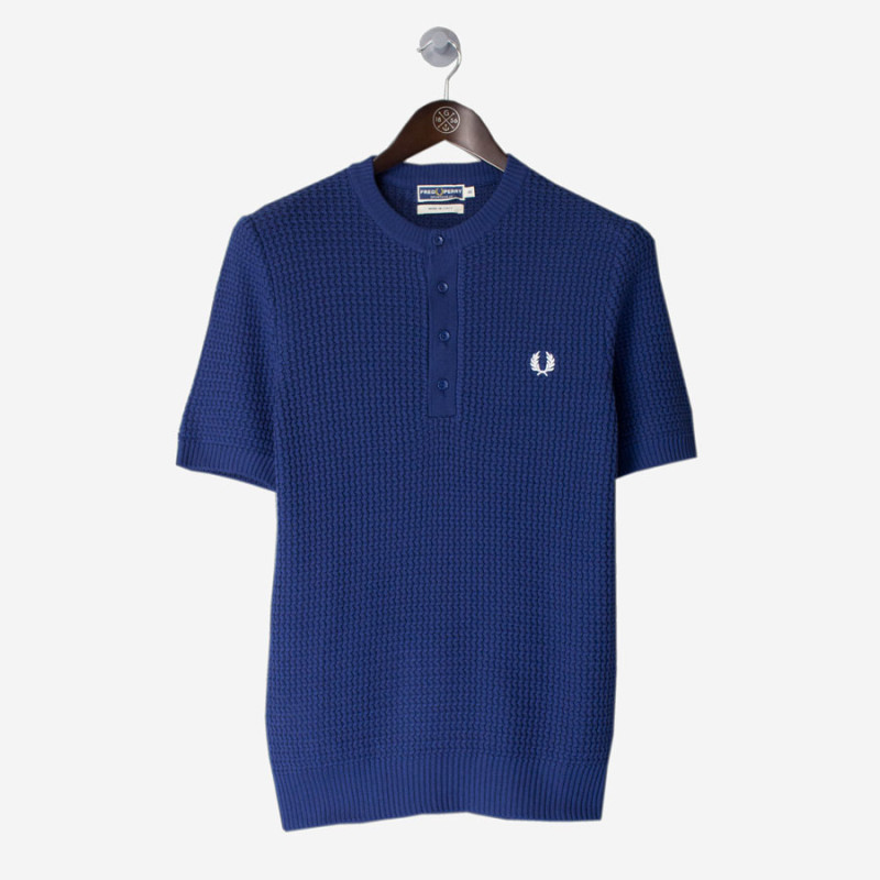 FRED-PERRY-Reissues-Knitted-Button-Neck-Shirt-Regalfront1-800x800