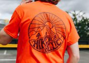 hikerdelic tee orange