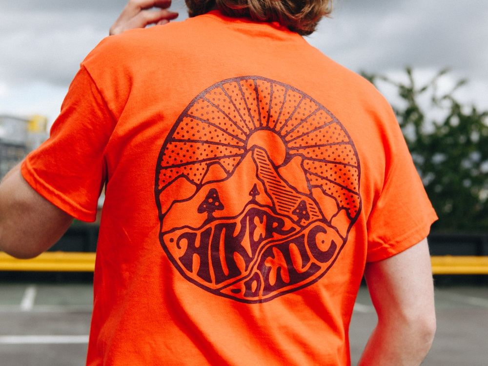hikerdelic tee orange