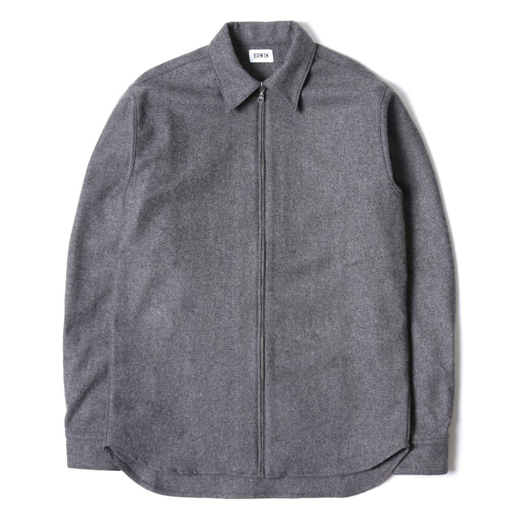 edwin-industry-zip-shirt-grey-marl