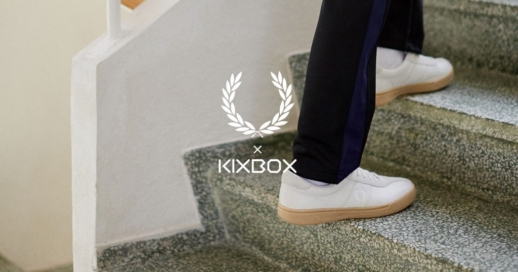 info for 979e7 e15b9 Limited to only 200 pairs Fred Perry have hooked up with rad Russian  retailers Kixbox to create a premium off-white version of their original B1  tennis ...